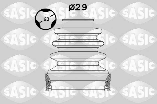 Пыльник ШРУСа SPIDAN арт. 2873883