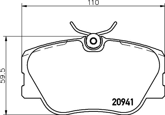 Тормозные колодки дисковые MINTEX арт. 8DB355017-601