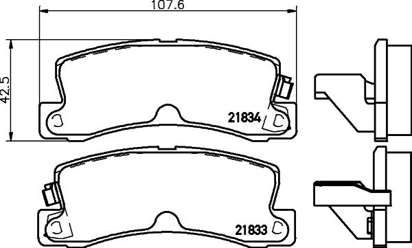 Тормозные колодки дисковые MINTEX арт. 8DB355006-431