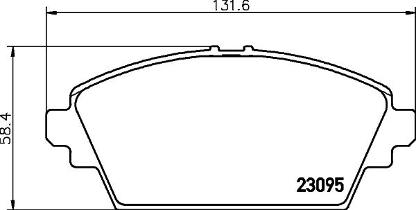 Тормозные колодки дисковые MINTEX арт. 8DB355011-951