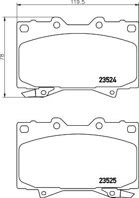 Тормозные колодки дисковые MINTEX арт. 8DB355009-371