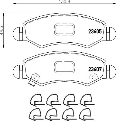 Тормозные колодки передние дисковые MINTEX арт. 8DB355011-691