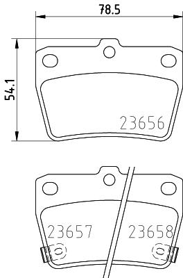Тормозные колодки задние дисковые MINTEX арт. 8DB355010-521