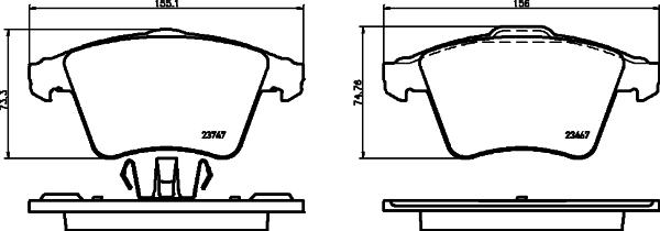 Тормозные колодки дисковые MINTEX арт. 8DB355013821