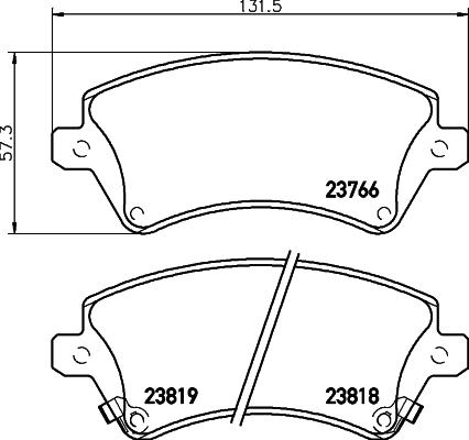 Тормозные колодки дисковые MINTEX арт. 8DB355017-241