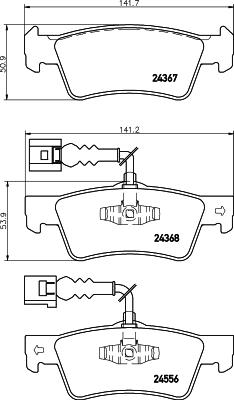 Тормозные колодки дисковые MINTEX арт. 8DB355012-441