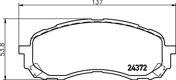 Тормозные колодки дисковые MINTEX арт. 8DB355012-451