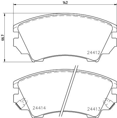 Тормозные колодки передние дисковые MINTEX арт. 8DB355013-041