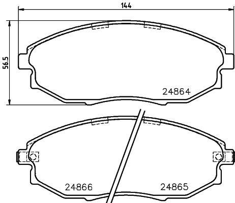 Тормозные колодки передние дисковые MINTEX арт. 8DB355014-931