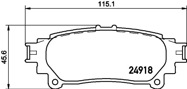 Тормозные колодки дисковые MINTEX арт. 8DB355015-371