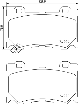 Тормозные колодки передние дисковые MINTEX арт. 8DB355015-411
