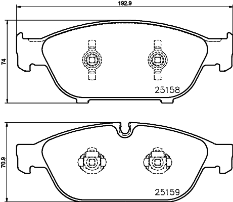 Тормозные колодки дисковые MINTEX арт. 8DB355016031