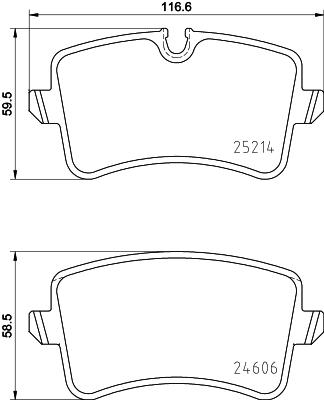 Тормозные колодки дисковые MINTEX арт. 8DB355015201