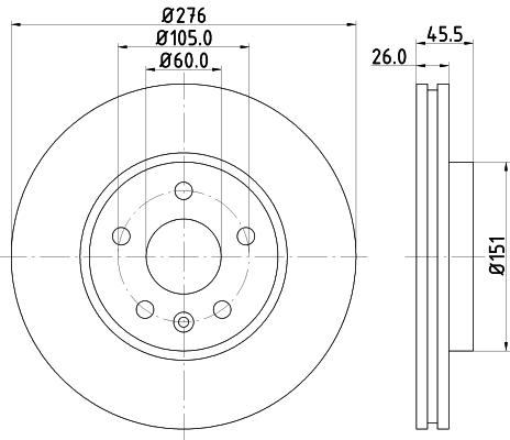 Тормозной диск MINTEX арт. 8DD355116-351