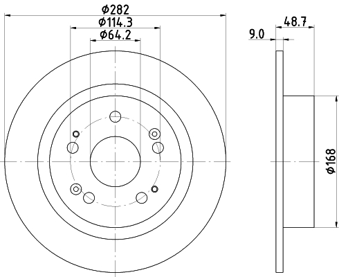 Тормозной диск MINTEX арт. 8DD355116-521