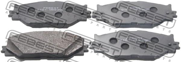 Тормозные колодки дисковые MINTEX арт. 0101-GSE20F