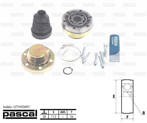 ШРУС внутренний с пыльником (28) SPIDAN арт. G7W026PC