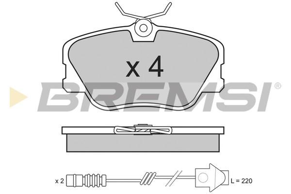Тормозные колодки передние дисковые MINTEX арт. BP2286