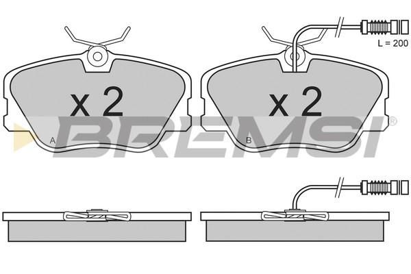 Тормозные колодки передние дисковые MINTEX арт. BP2485