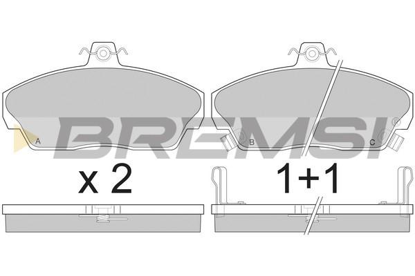 Тормозные колодки передние дисковые MINTEX арт. BP2502