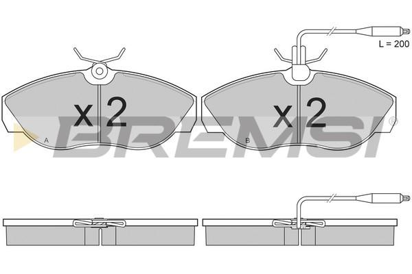 Тормозные колодки передние дисковые MINTEX арт. BP2614
