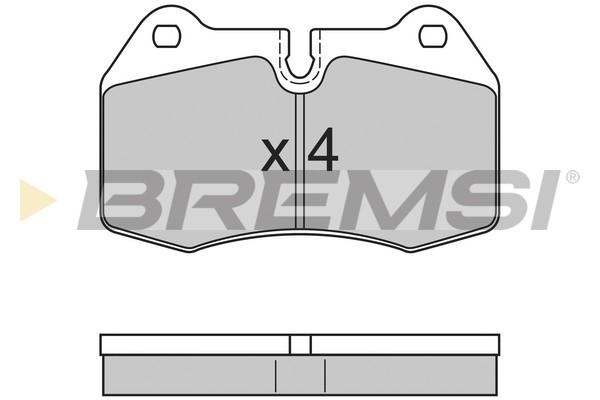 Тормозные колодки передние дисковые MINTEX арт. BP2660