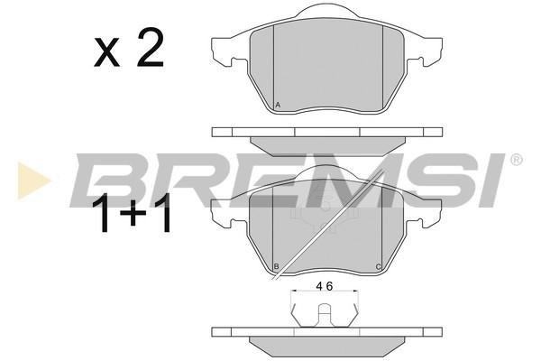 Тормозные колодки передние дисковые MINTEX арт. BP2679