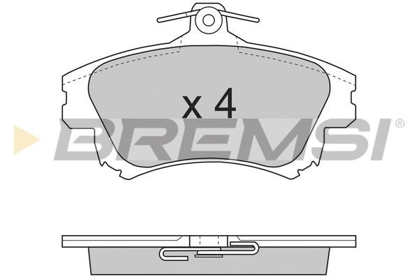Тормозные колодки передние дисковые MINTEX арт. BP2703
