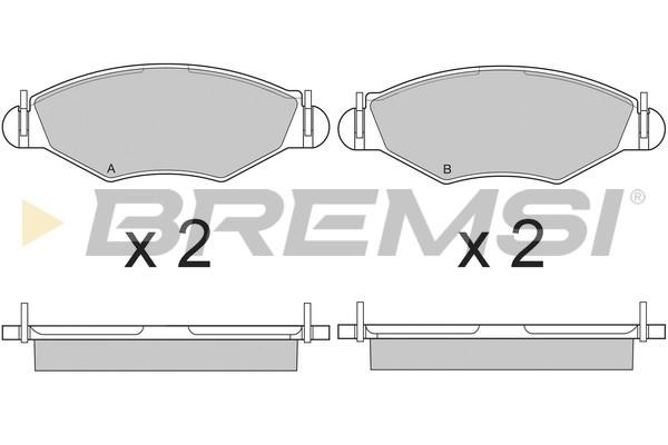Тормозные колодки передние дисковые MINTEX арт. BP2847