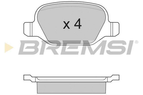 Тормозные колодки задние дисковые MINTEX арт. BP2890
