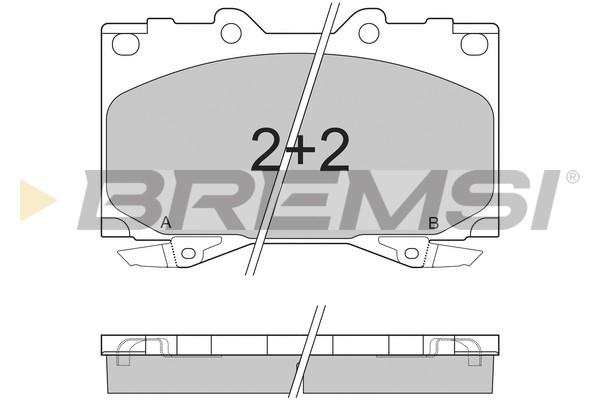 Тормозные колодки передние дисковые MINTEX арт. BP2898