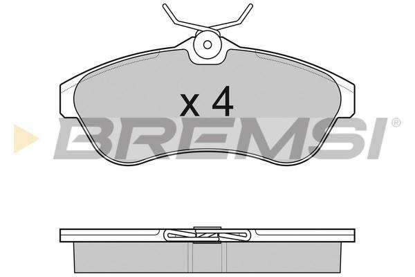 Тормозные колодки передние дисковые MINTEX арт. BP3009