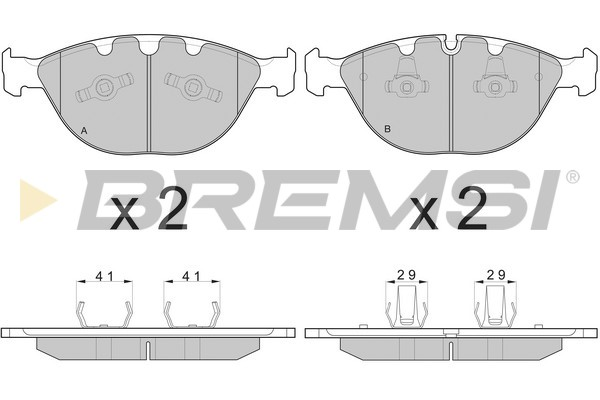 Тормозные колодки передние дисковые MINTEX арт. BP3095