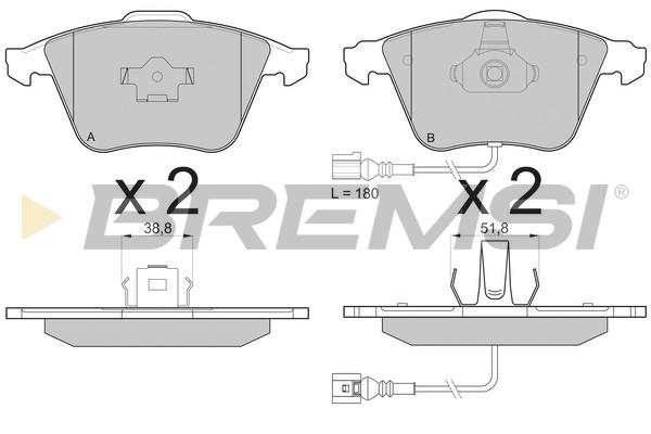 Тормозные колодки передние дисковые MINTEX арт. BP3136