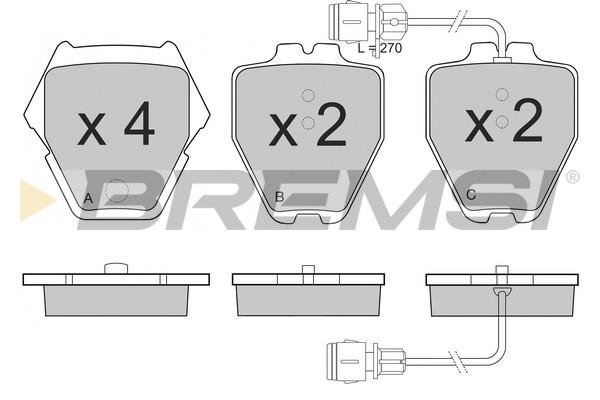 Тормозные колодки дисковые MINTEX арт. BP3149