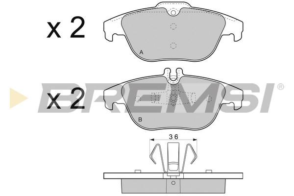 Тормозные колодки дисковые MINTEX арт. BP3328