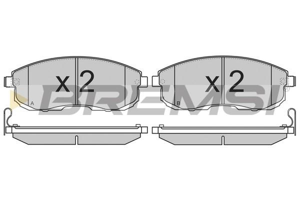 Тормозные колодки передние дисковые MINTEX арт. BP3342