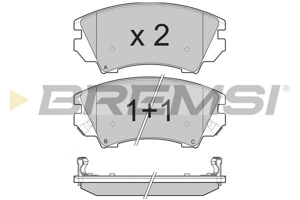 Тормозные колодки передние дисковые MINTEX арт. BP3377