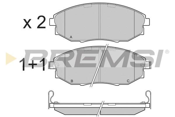 Тормозные колодки передние дисковые MINTEX арт. BP3399