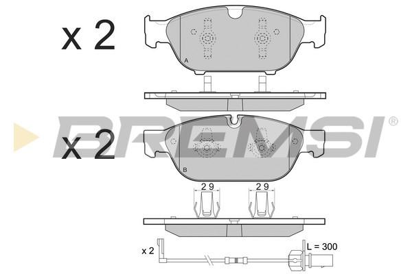 Тормозные колодки передние дисковые MINTEX арт. BP3476