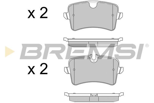 Тормозные колодки задние дисковые MINTEX арт. BP3502