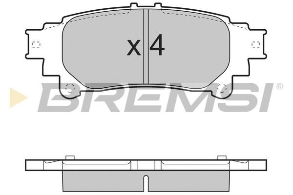Тормозные колодки задние дисковые MINTEX арт. BP3534