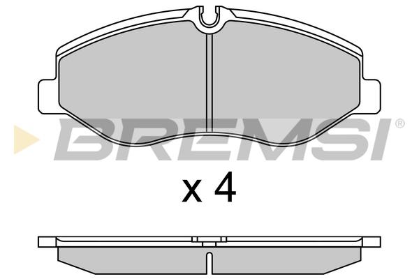 Тормозные колодки дисковые MINTEX арт. BP3733