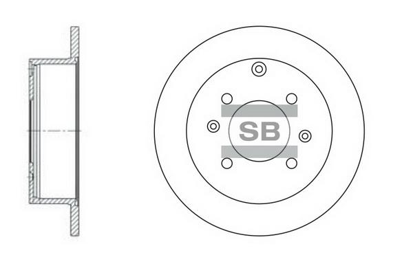 Тормозной диск задний MINTEX арт. SD1047
