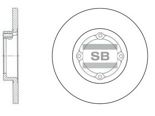 Тормозной диск передний MINTEX арт. SD3010