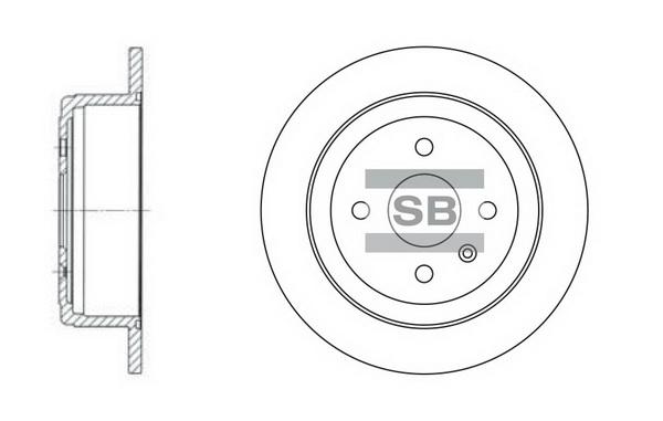 Тормозной диск задний MINTEX арт. SD3013