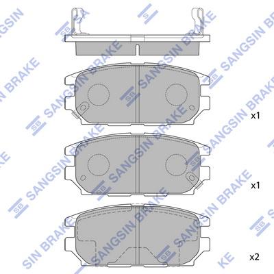 Тормозные колодки задние дисковые MINTEX арт. SP1069