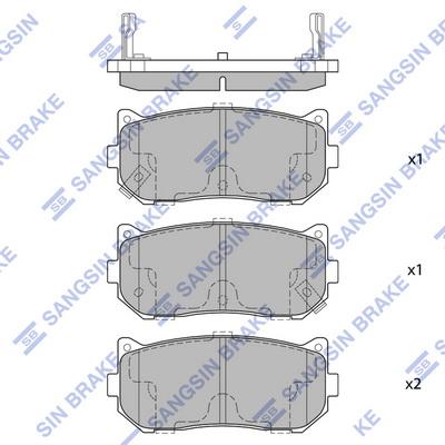 Тормозные колодки задние дисковые MINTEX арт. SP1079-R