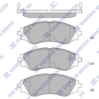 Тормозные колодки передние дисковые MINTEX арт. SP1102