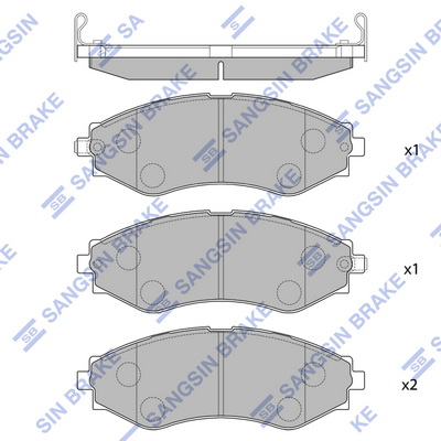Тормозные колодки передние дисковые MINTEX арт. SP1103